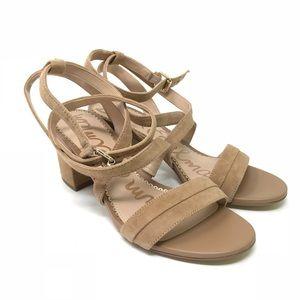 ad69a2940b7e Sam Edelman Shoes - Sam Edelman Sz 6 Sammy Block Heel Sandals Camel